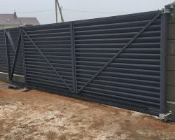 забор-жалюзи установка 4