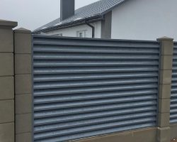 забор-жалюзи установка 5